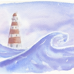 Northern Sea - watercolor
