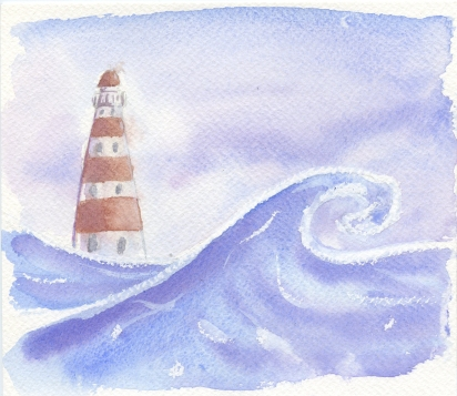 Northern Sea - watercolor