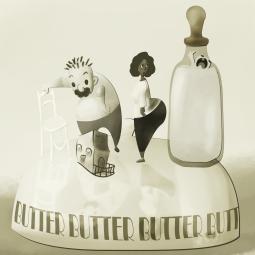 Butter world - digital paint