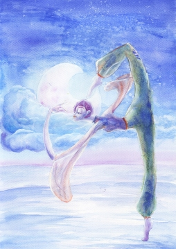 Magic Dance - aquarelle 42x30 cm