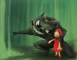 Little red riding hood - digital paint