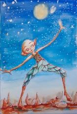 Walk in the Sky - Aquarelle 42x30 cm