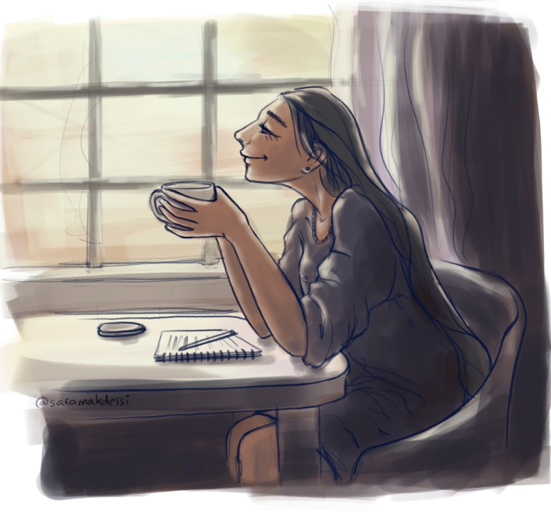 Morning Coffee - digital paint